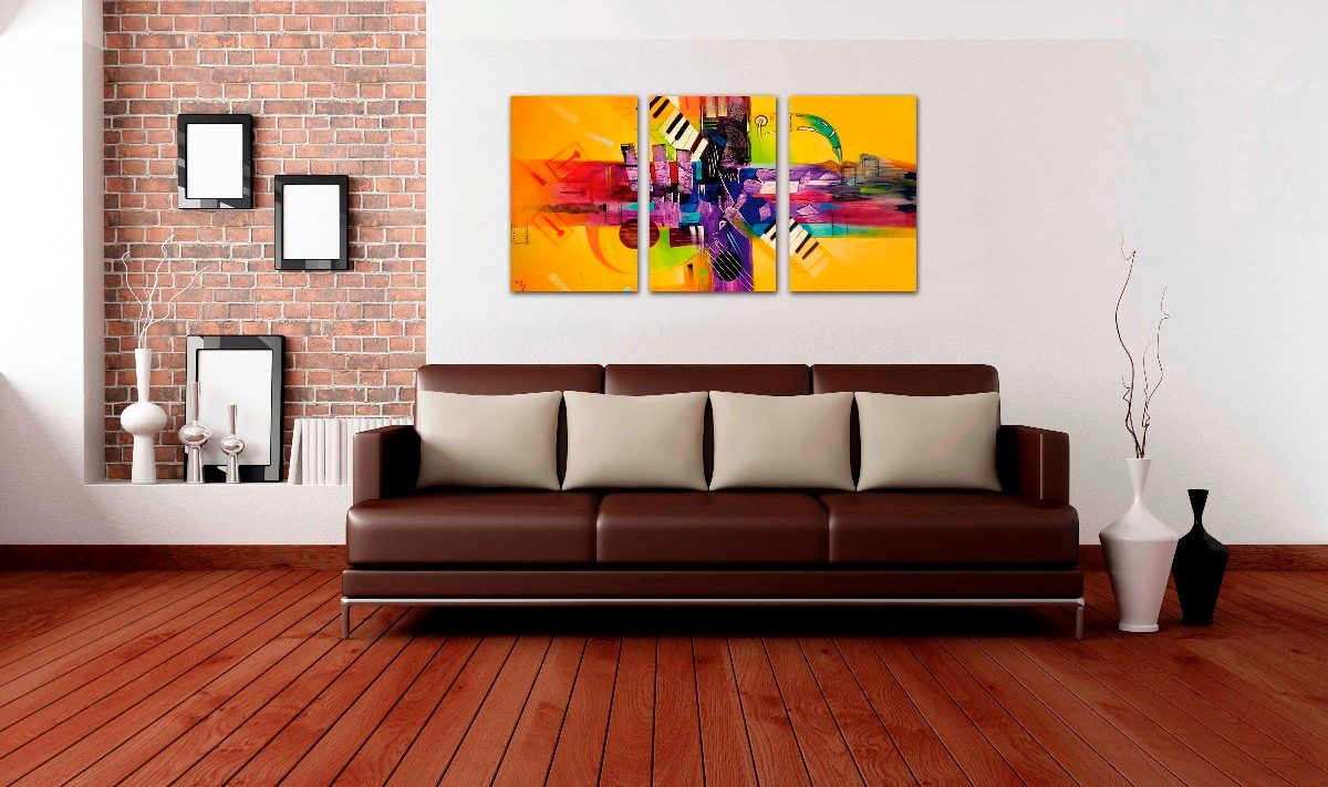 Muher c mo iluminar una obra de arte for Fotos de cuadros abstractos minimalistas