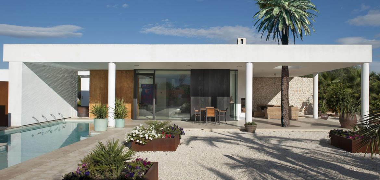 Sta Catalina 8682F Arquitectura. Vivienda mediterránea entre naranjos