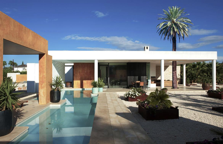 Sta Catalina 8683F Arquitectura. Vivienda mediterránea entre naranjos