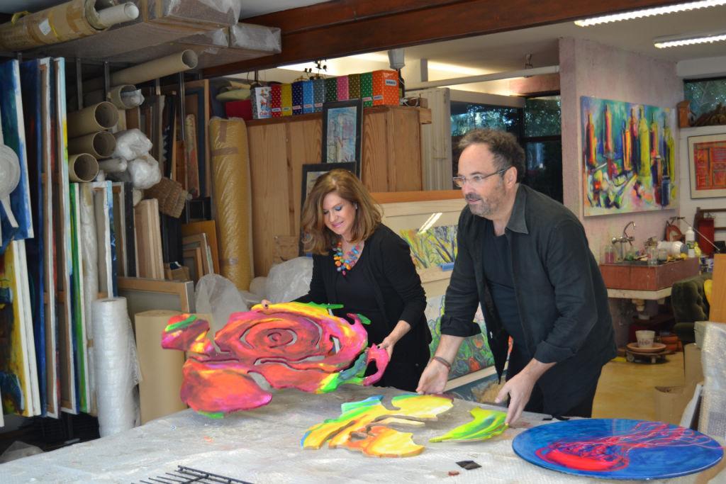 Exponemos en ArtMarbella una colección de piezas de mural y esculturas de pared