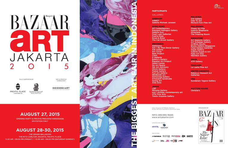 bazaar art jakarta 2015 MUHER expondrá en la Bazaar Art de Yakarta 2015 (Indonesia)