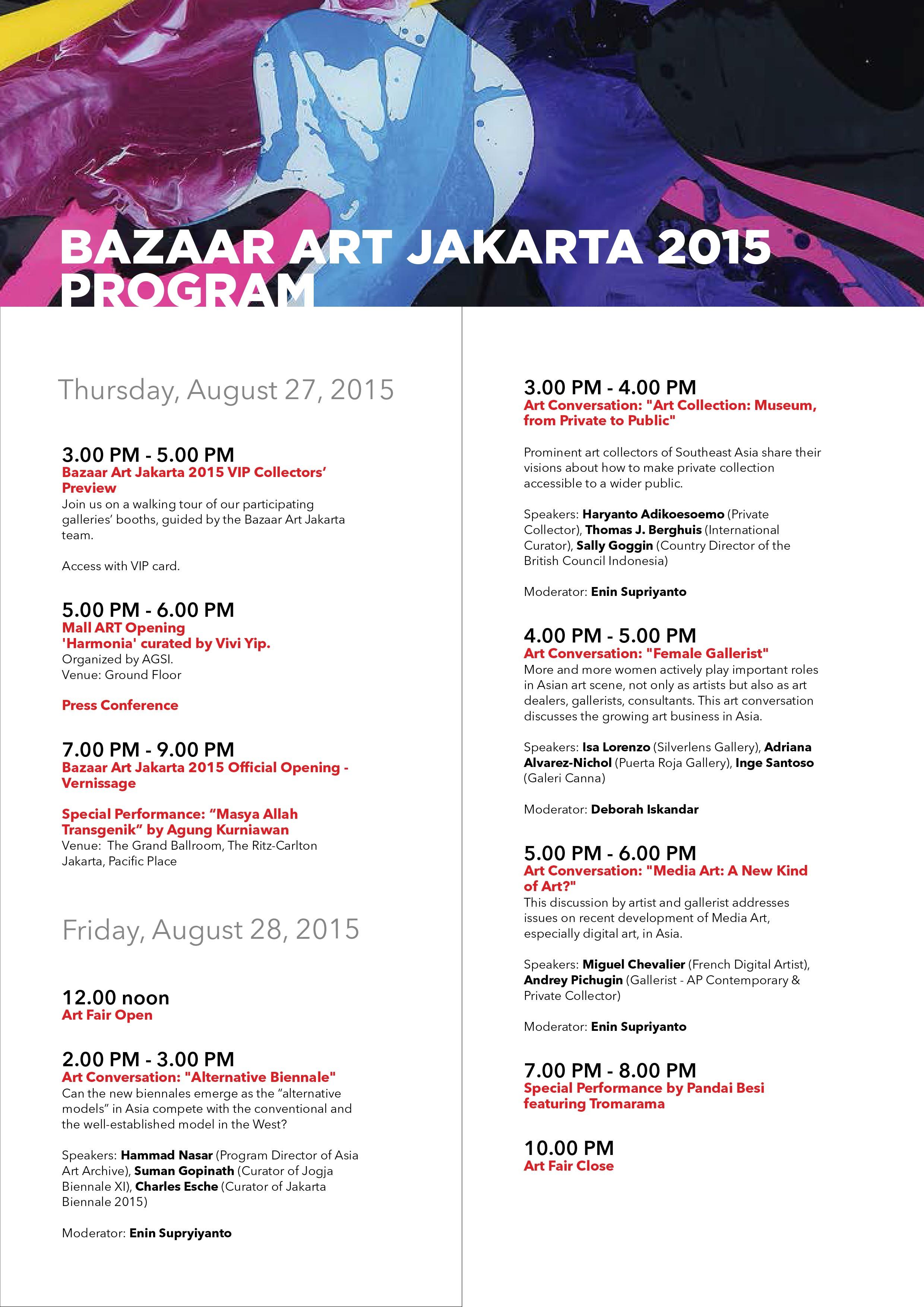 p6 MUHER expondrá en la Bazaar Art de Yakarta 2015 (Indonesia)