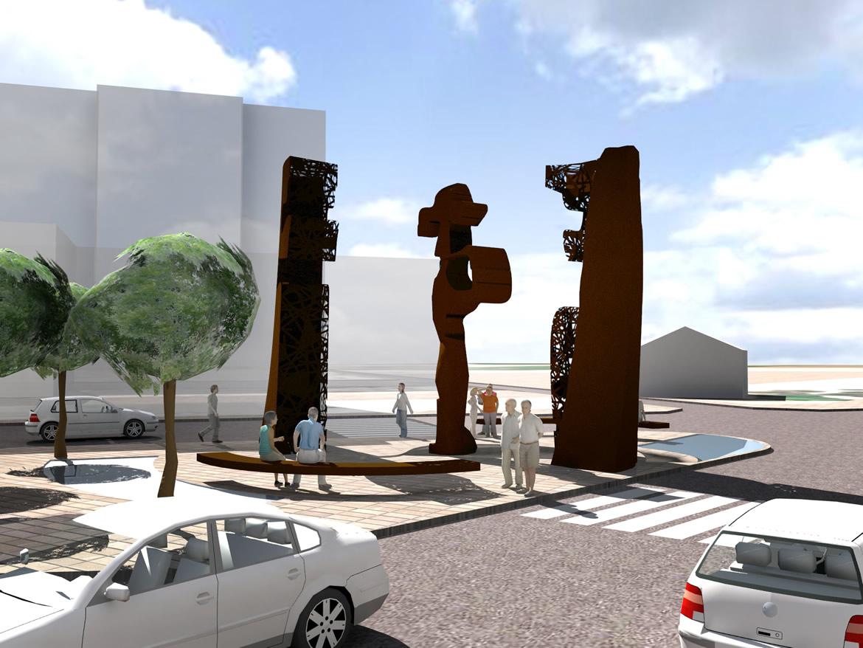 00783 Escultura Puerta del Peregrino