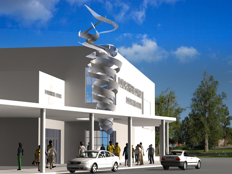 10 09 07 2014 Escultura para pabellón olímpico Miami