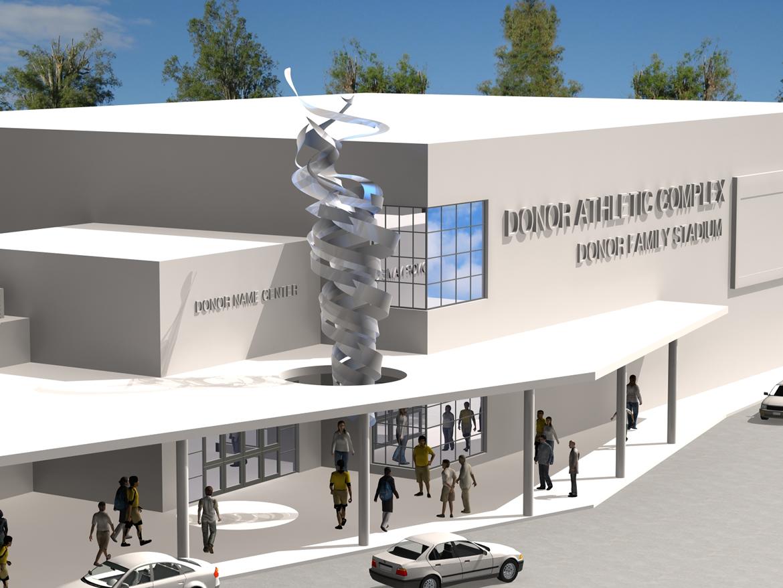 11 09 07 2014 Escultura para pabellón olímpico Miami