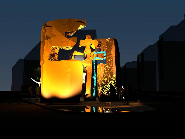 nocturno 2 Escultura Puerta del Peregrino