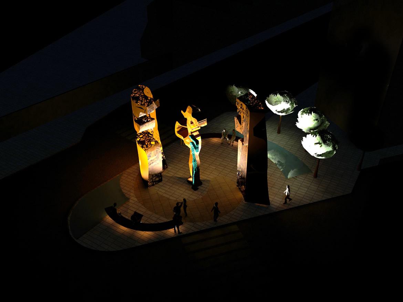 nocturno 3 Escultura Puerta del Peregrino