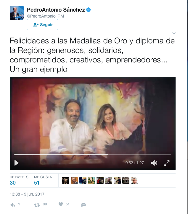 Captura de pantalla 2017 06 12 a las 12.18.47 Gran acogida en Prensa de la Medallas de Oro de la Región de Murcia entregada a MUHER