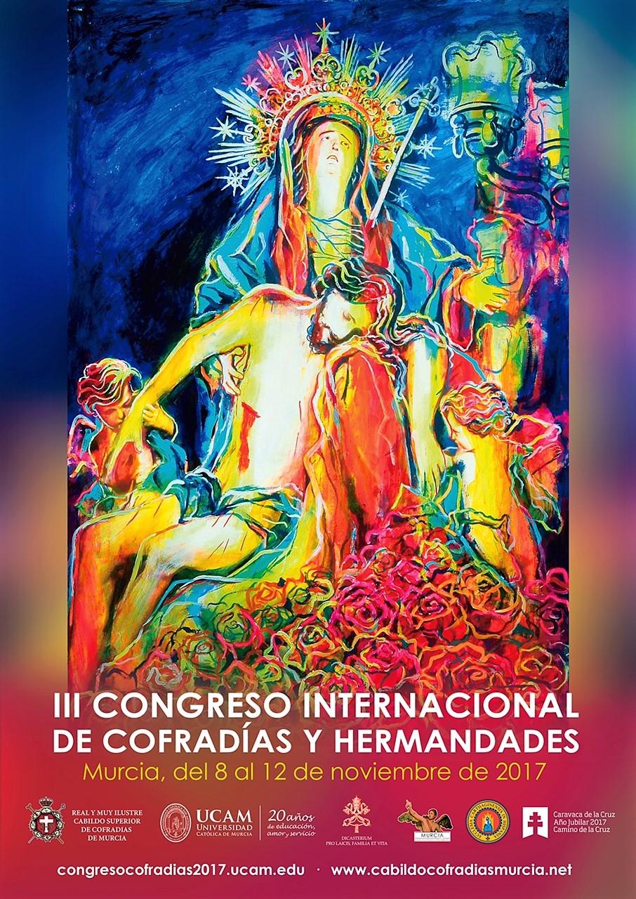 Cartel cofradias hermandades 2 Presentado el cartel del III Congreso Internacional de Cofradías y Hermandades diseño de MUHER