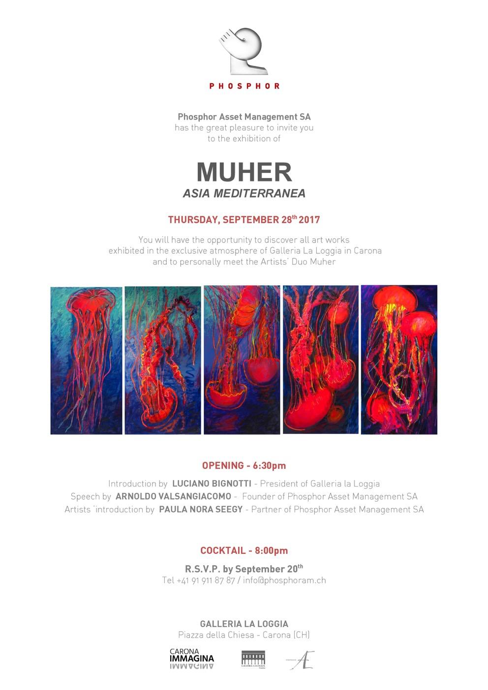 image001 Muher expone —Asia Mediterránea— en Lugano, para PHOSPHOR ASSET MANAGEMENT