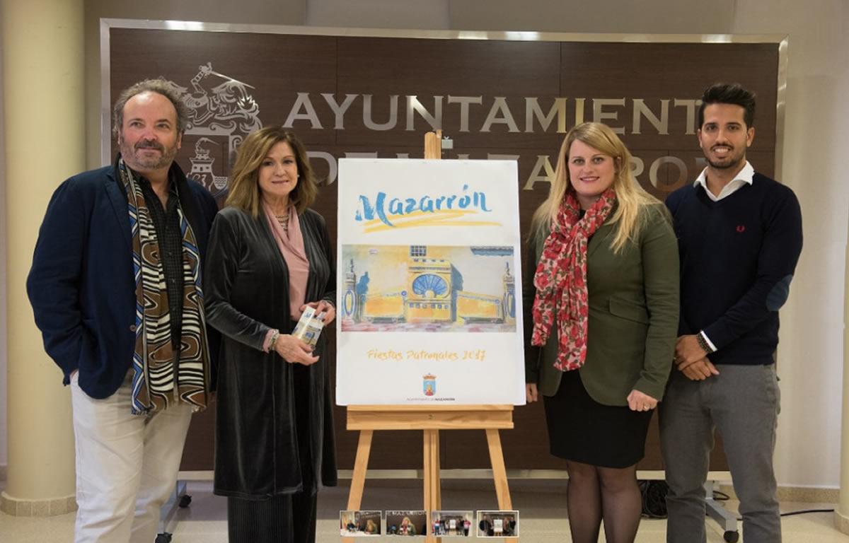 cartel fiestas patronales mazarrón 2017 muher