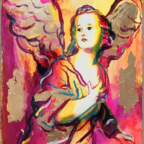 Obra gráfica sobre papel canson coloreada por artista