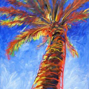 obra grafica sobre papel canson coloreada por artista 60 x 40-600€_90 x 60-1200€__palmeras mediterraneas 1