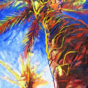 obra grafica sobre papel canson coloreada por artista 60 x 40-600€_90 x 60-1200€__palmeras mediterraneas 3