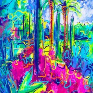 obra grafica sobre papel canson coloreada por artista obra grafica 60 x 40-600€_90 x 60-1200€__jardin