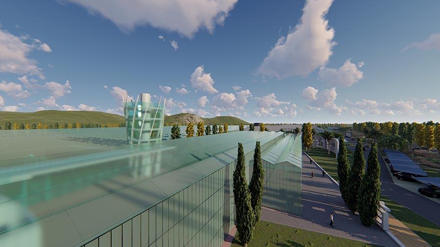 El estudio Muher aborda el diseño de una nueva sede logística, —Base Ecológica de Frutas y Verduras de Jingzhou— otra vez en China