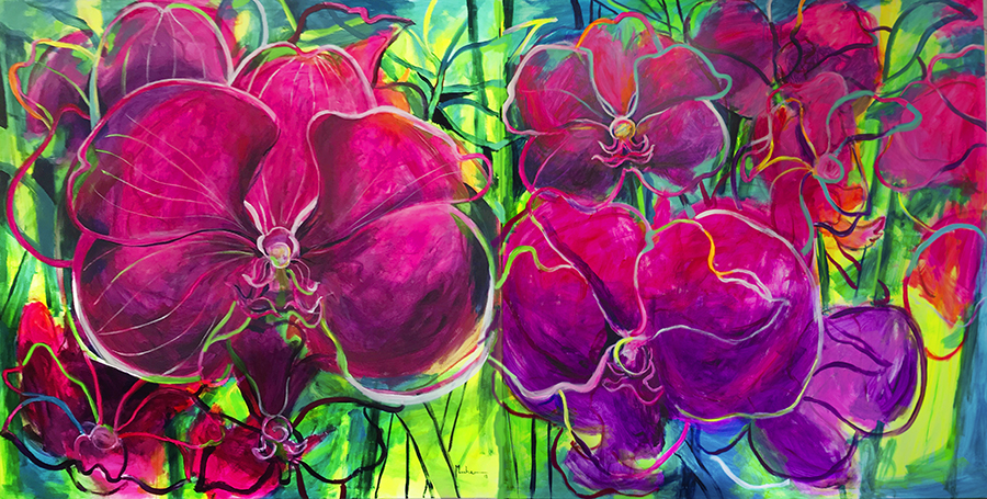 2Wild Orchids 2 x 4 m mix media on canvas (_A3K6468 TFF .tif)_RED
