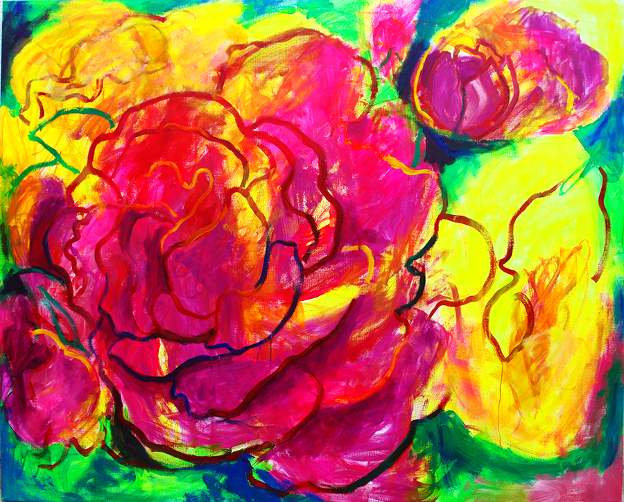 flores rosas __RED